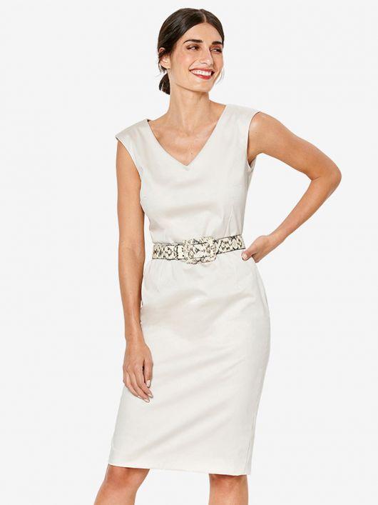Сукня-футляр без рукавів