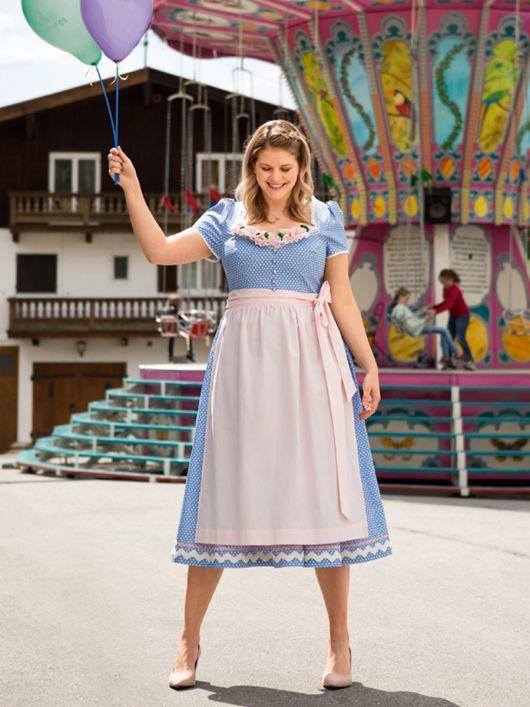 Сукня і фартух в баварському стилі
