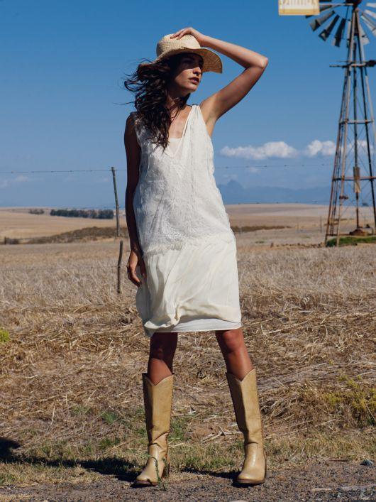 Сукня з мереживним топом