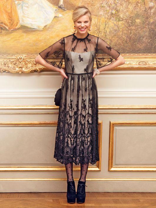 Сукня двошарова з рукавами-крильцями