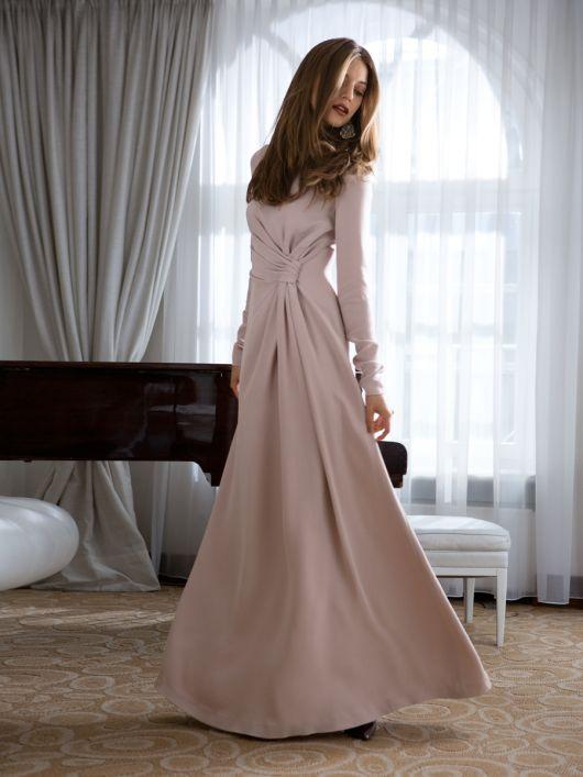 Сукня максі з драпіровками