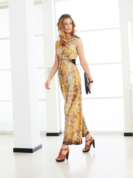 Сукня довга з переплетеними зав'язками