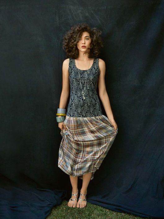 Сукня з трикотажним верхом і довгою спідницею