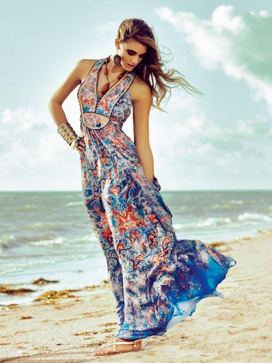 Довга сукня з пластроном
