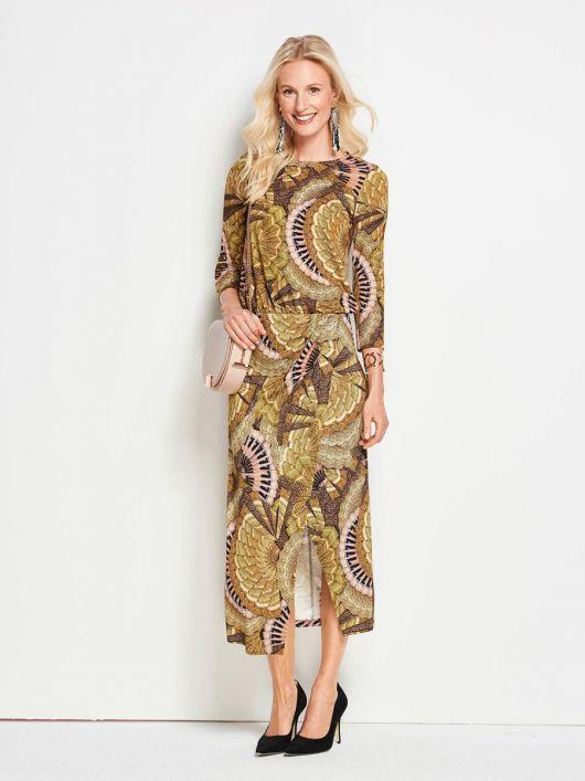 Сукня трикотажна із спідницею з запахом