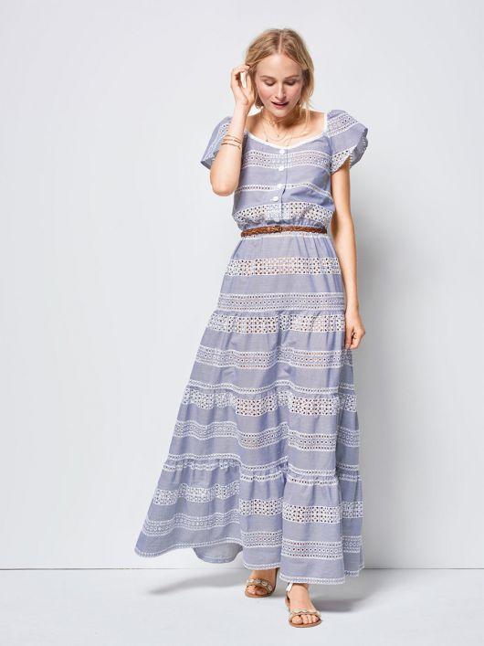 Сукня довга з рукавами крильцями