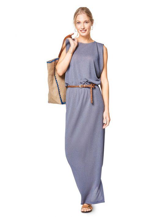 Сукня максі трикотажна з оригінальним ліфом