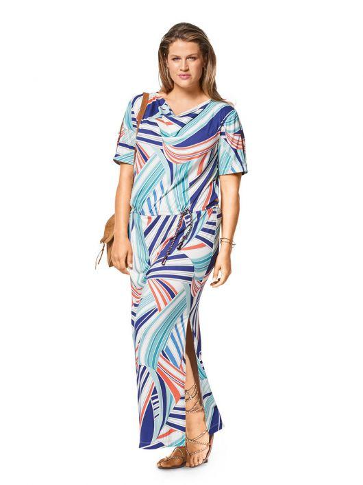 Сукня трикотажна з розрізами на рукавах