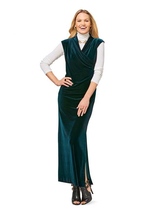 Сукня максі з трикотажного оксамиту
