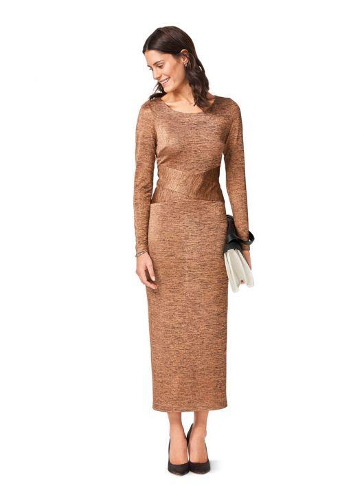 Сукня довга з фігурним вшивним поясом
