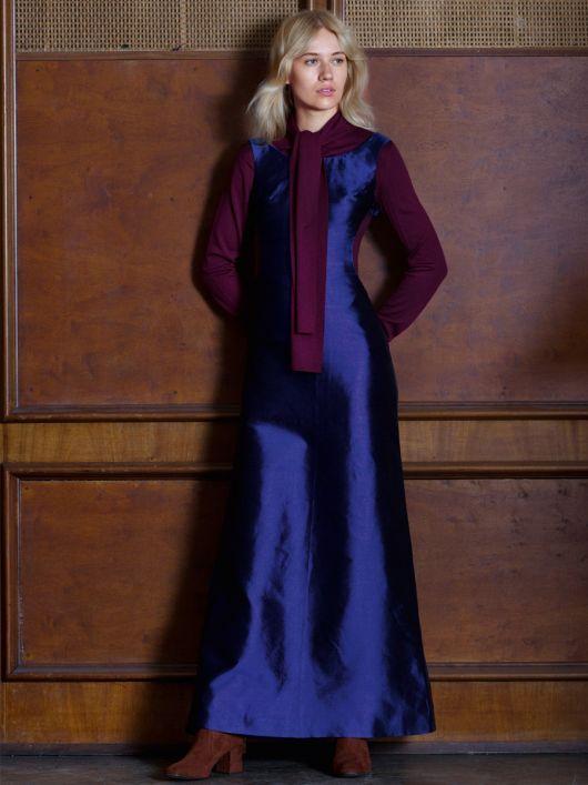 Сукня довга з фігурними вирізами
