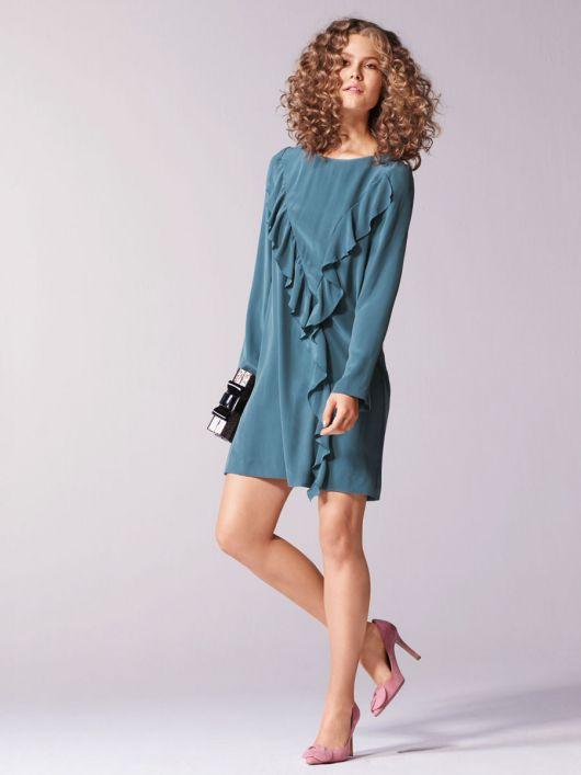 Сукня коротка з воланами на переді