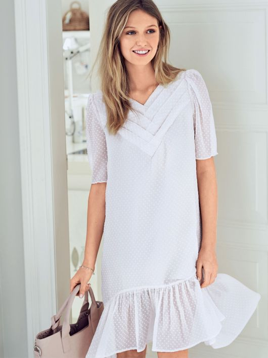 Сукня А-силуету зі складками на кокетках