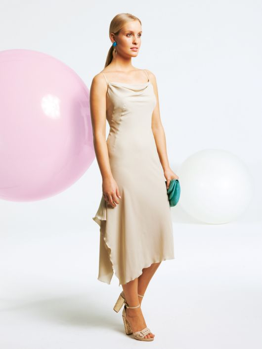 Сукня з шовкового крепу на бретелях