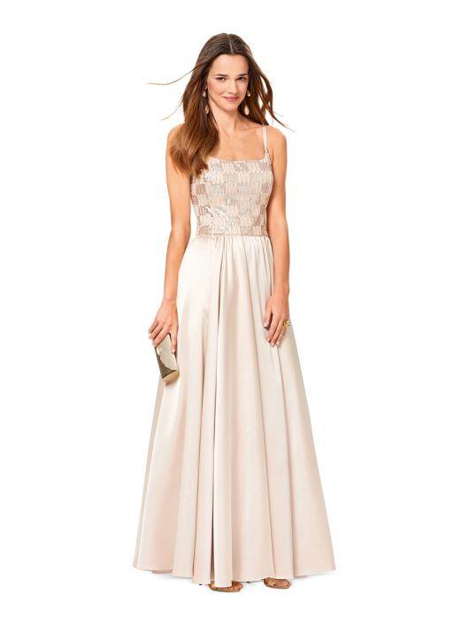 Сукня вечірня з призбореною спідницею