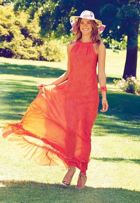 Довга сукня з американською проймою
