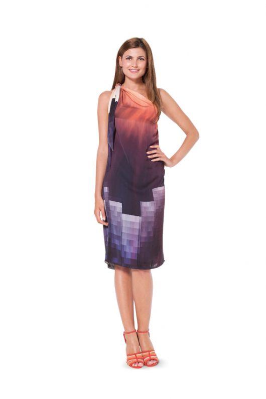 Сукня шовкова на одне плече