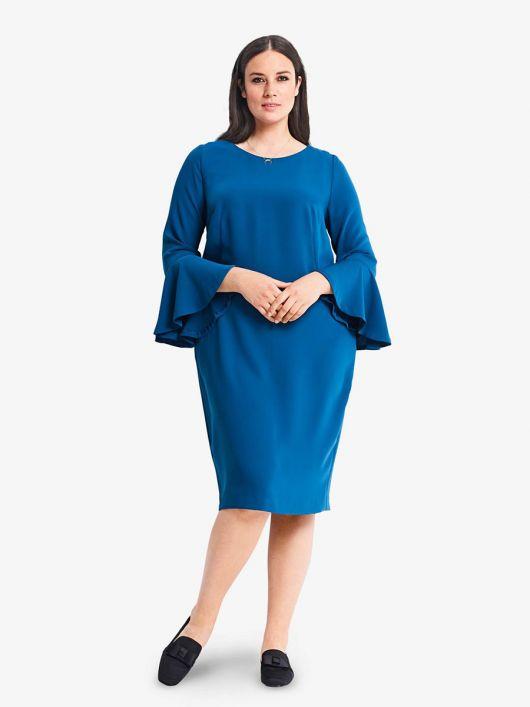 Сукня шовкова О-силуету з воланами