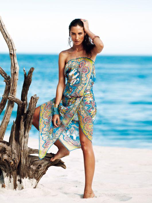 Сукня-бандо із шовкової хустки