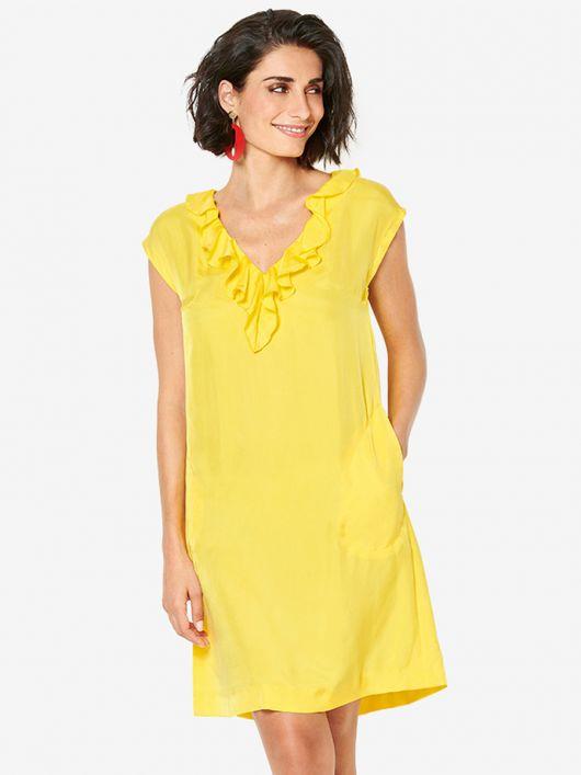 Сукня міні А-силуету з воланами