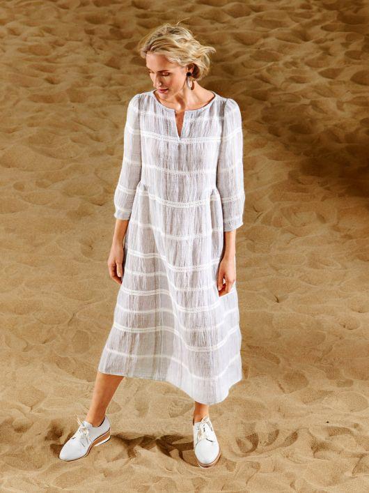 Сукня лляна з широкою спідницею