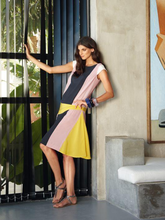 Сукня в стилі колор-блокінг в дусі 20-х