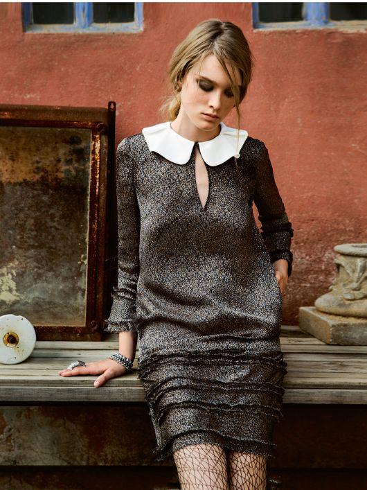 Міні-сукня з відкладним коміром