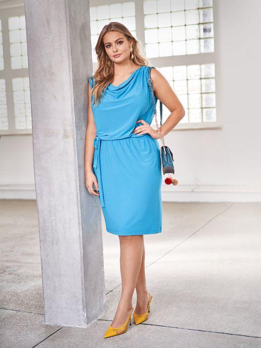 Сукня трикотажна з вирізом горловини «гойдалки»