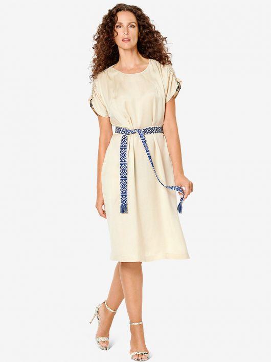 Сукня з кулісками у плечових швах
