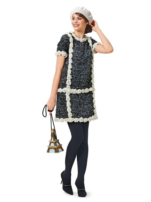 Сукня міні з контрастним оздобленням