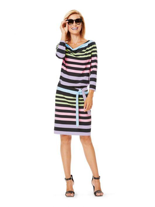 Сукня трикотажна з хвилястим вирізом горловини