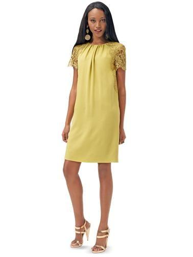 Сукня прямого крою з мереживними вставками