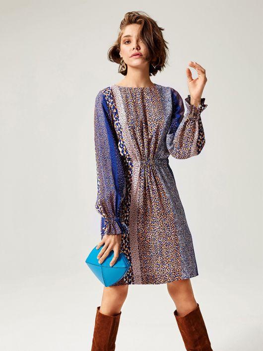 Сукня міні з куліскою на талії