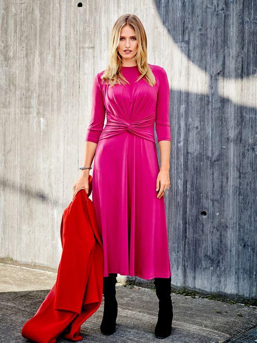 Сукня трикотажна з віяловими складками