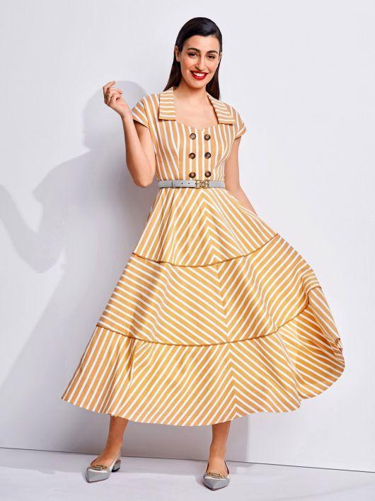 Сукня в морському стилі з Burda Moden 7/1950