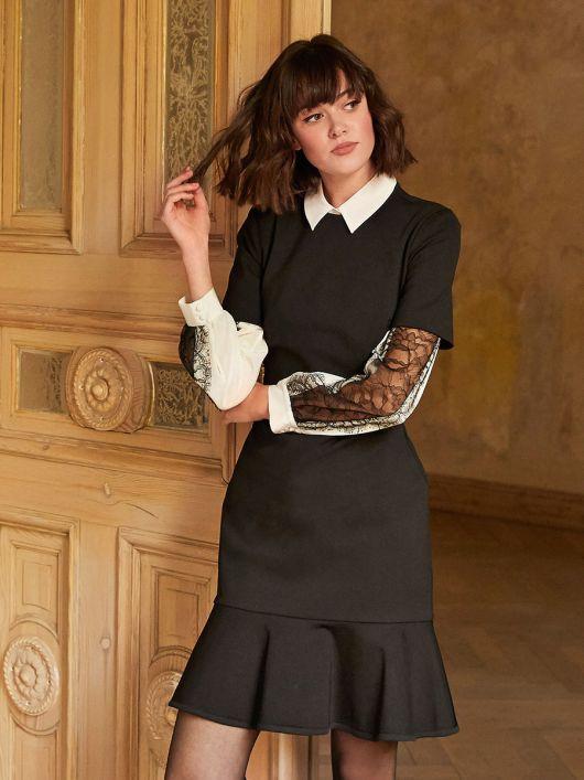 Сукня трикотажна в стилі от-кутюр