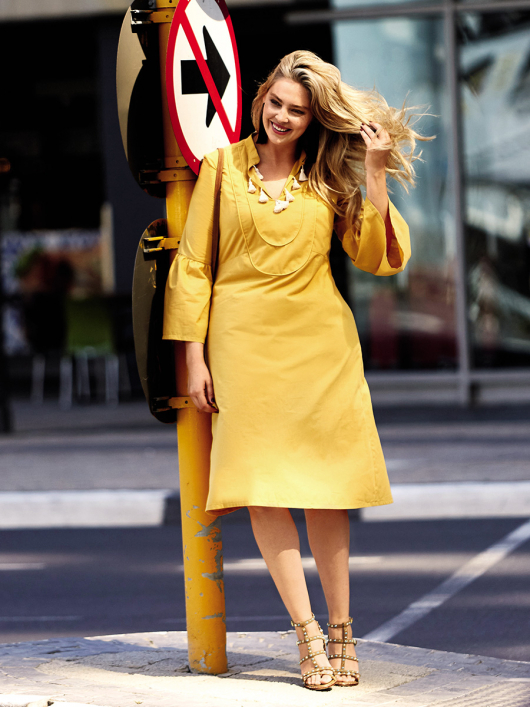 Сукня А-силуету з пластроном
