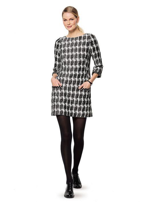 Сукня міні приталеного силуету з косими виточками
