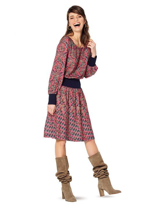 Сукня з широким трикотажним поясом