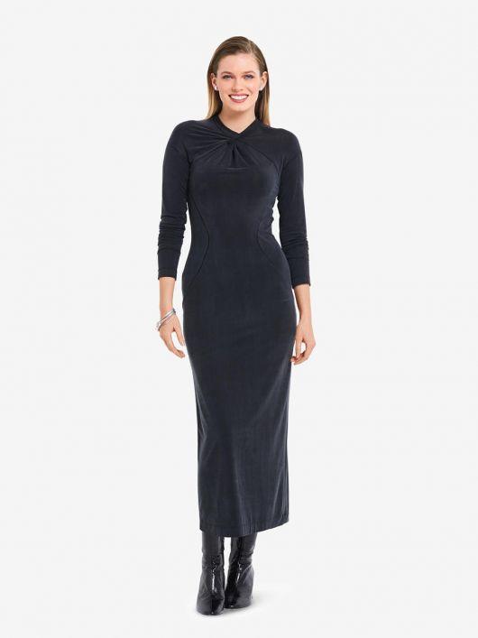 Сукня трикотажна з фігурними рельєфними швами