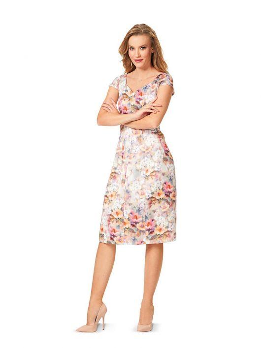 Сукня з широким вирізом і спідницею у формі дзвона