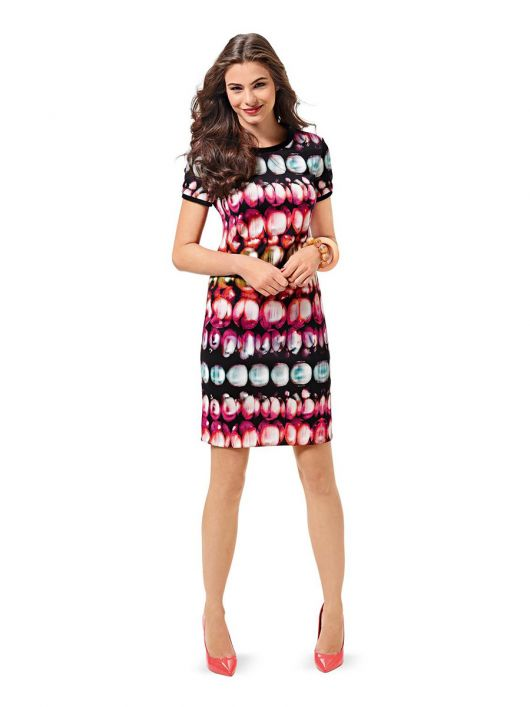 Сукня трикотажна з короткими рукавами