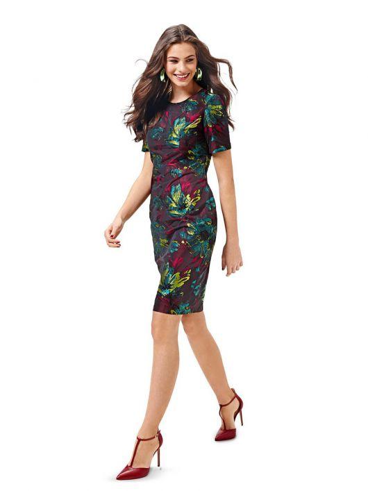 Сукня-футляр з рельєфними деталями