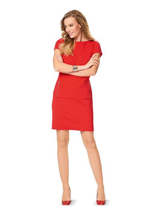 Сукня-футляр з накладною кишенею