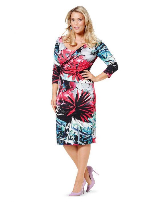 Сукня-футляр трикотажна з широким вирізом горловини