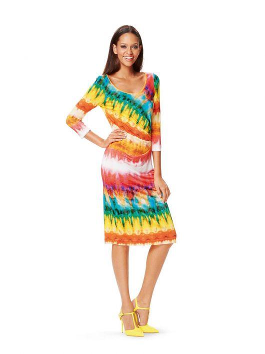 Сукня трикотажна приталеного силуету з довгими рукавами