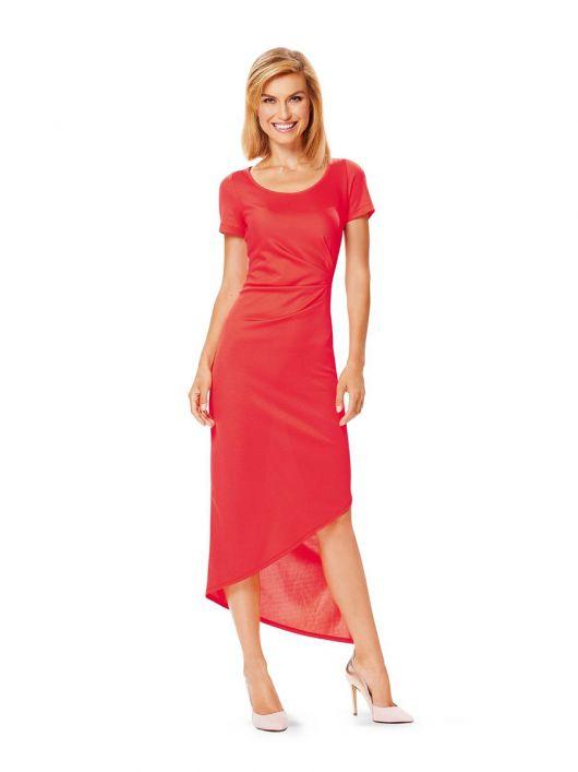 Сукня трикотажна приталеного силуету з короткими рукавами