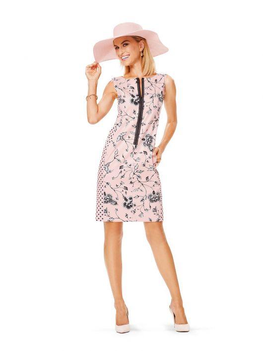 Сукня-футляр без рукавів із застібкою на блискавку