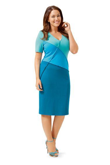 Сукня трикотажна в стилі колор-блок