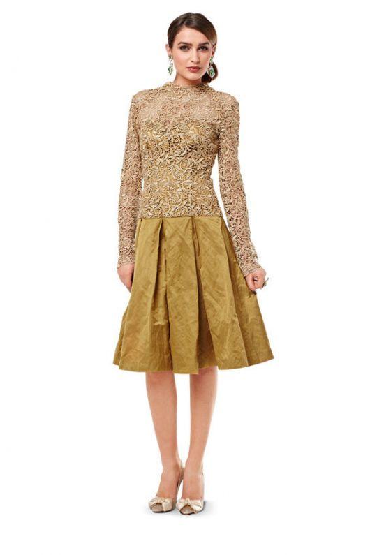 Сукня коктейльна з мереживним верхом